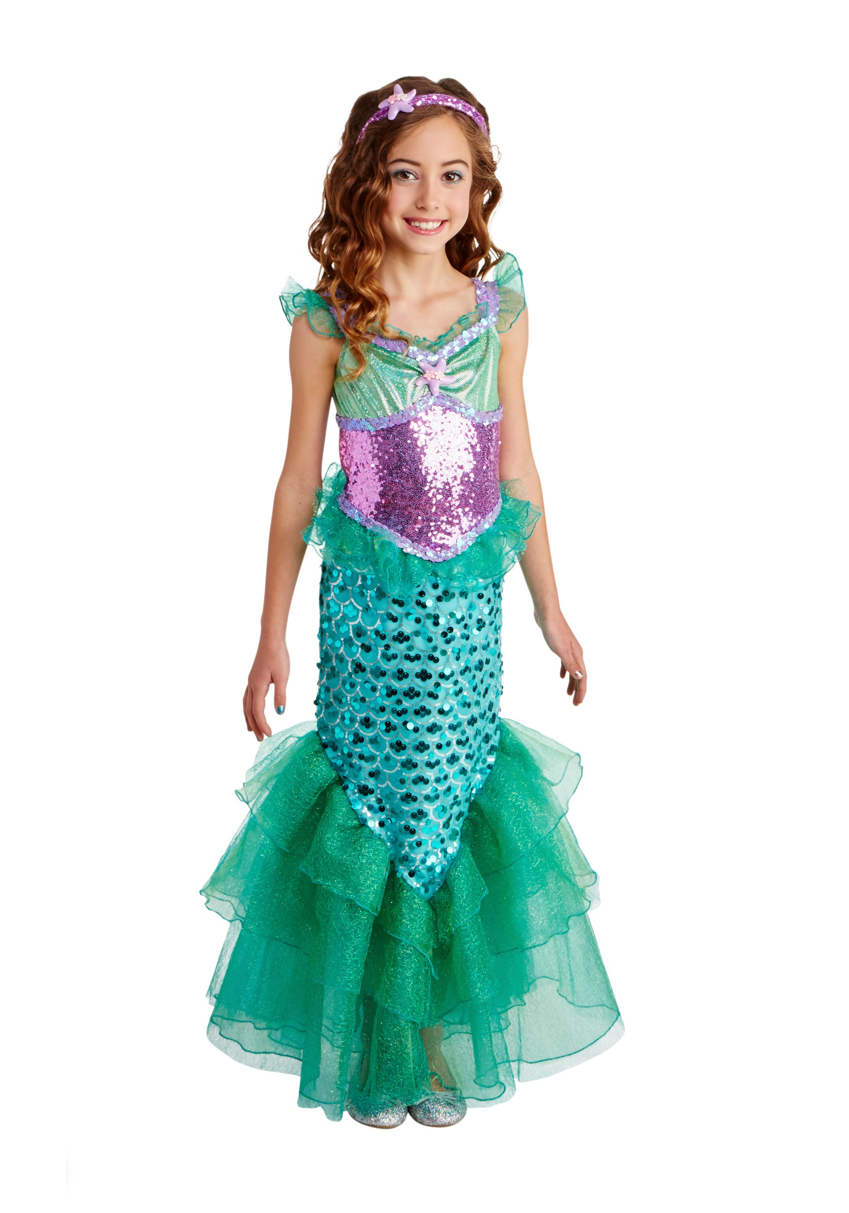 Blue Seas Mermaid Deluxe Costume for Kids