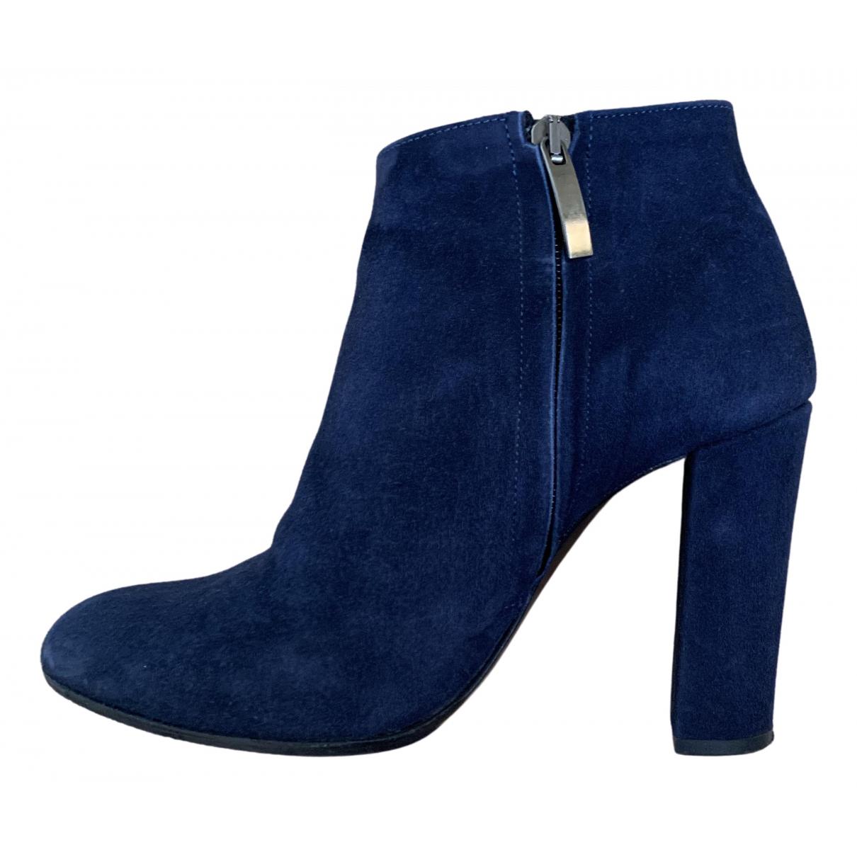Ann Tuil \N Stiefeletten in  Blau Leder
