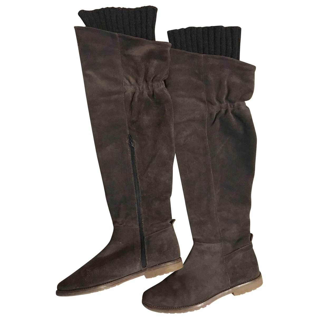 Tommy Hilfiger \N Green Leather Boots for Women 40 EU