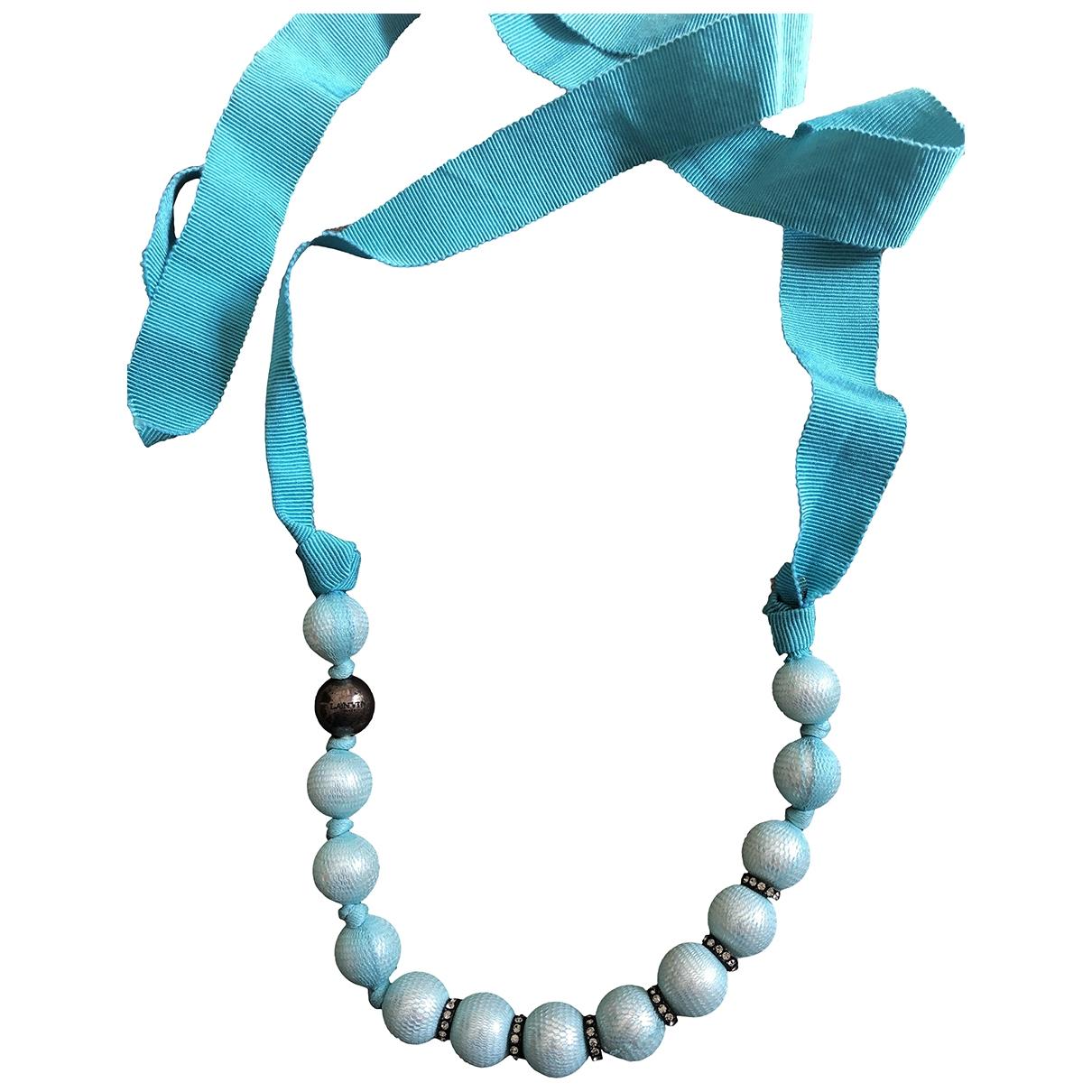 Lanvin \N Halskette in  Tuerkis Perlen