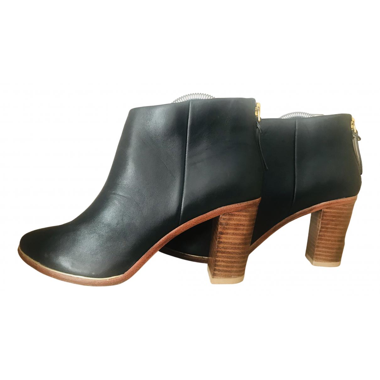 Ted Baker - Bottes   pour femme en cuir - noir