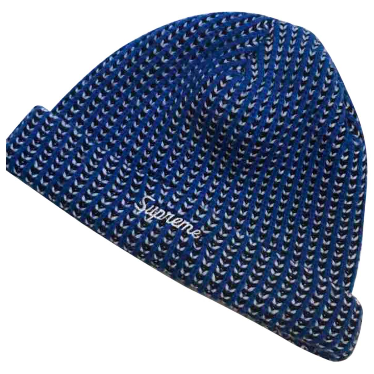 Supreme N Blue Wool hat & pull on hat for Men M International