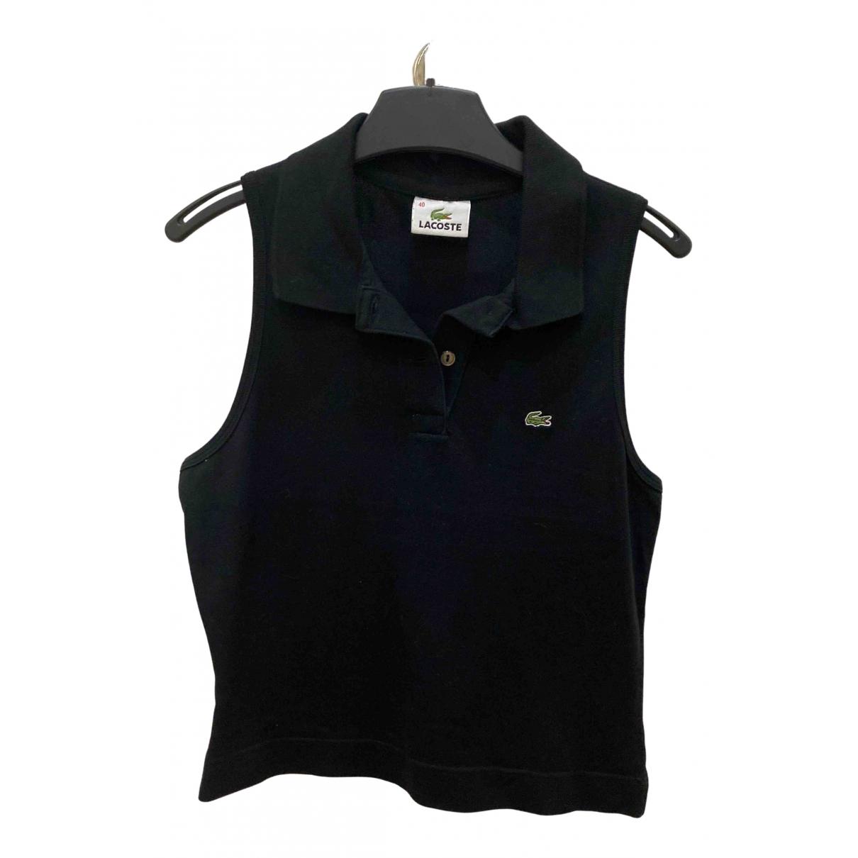 Lacoste - Top   pour femme en coton - noir