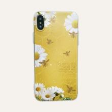 iPhone Huelle mit Gaensebluemchen Muster