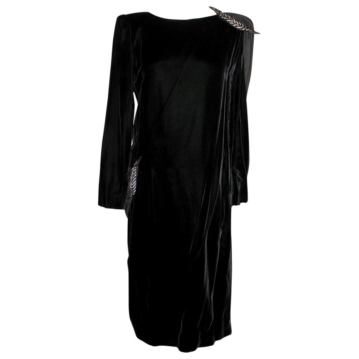 Valentino Garavani \N Kleid in  Schwarz Samt