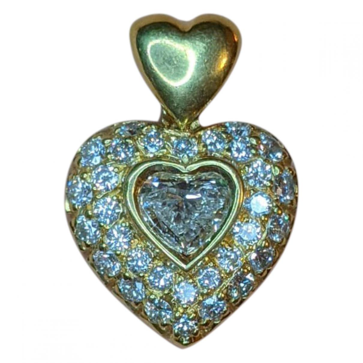 - Pendentif Motifs Coeurs pour femme en or jaune - dore