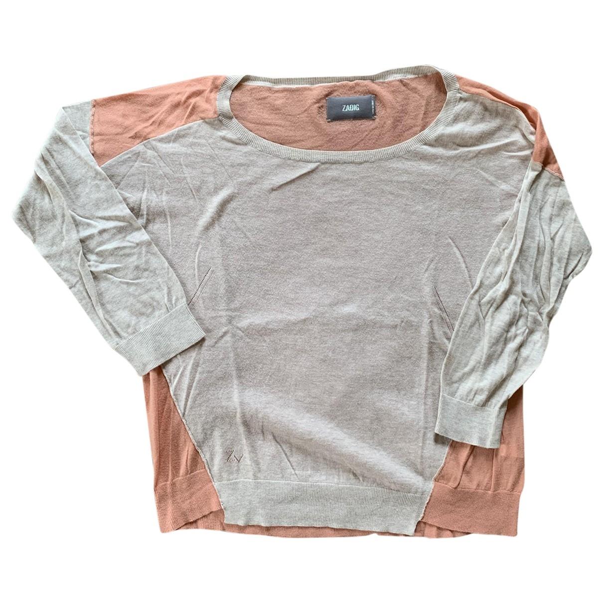 Zadig & Voltaire \N Beige Cotton Knitwear for Women M International