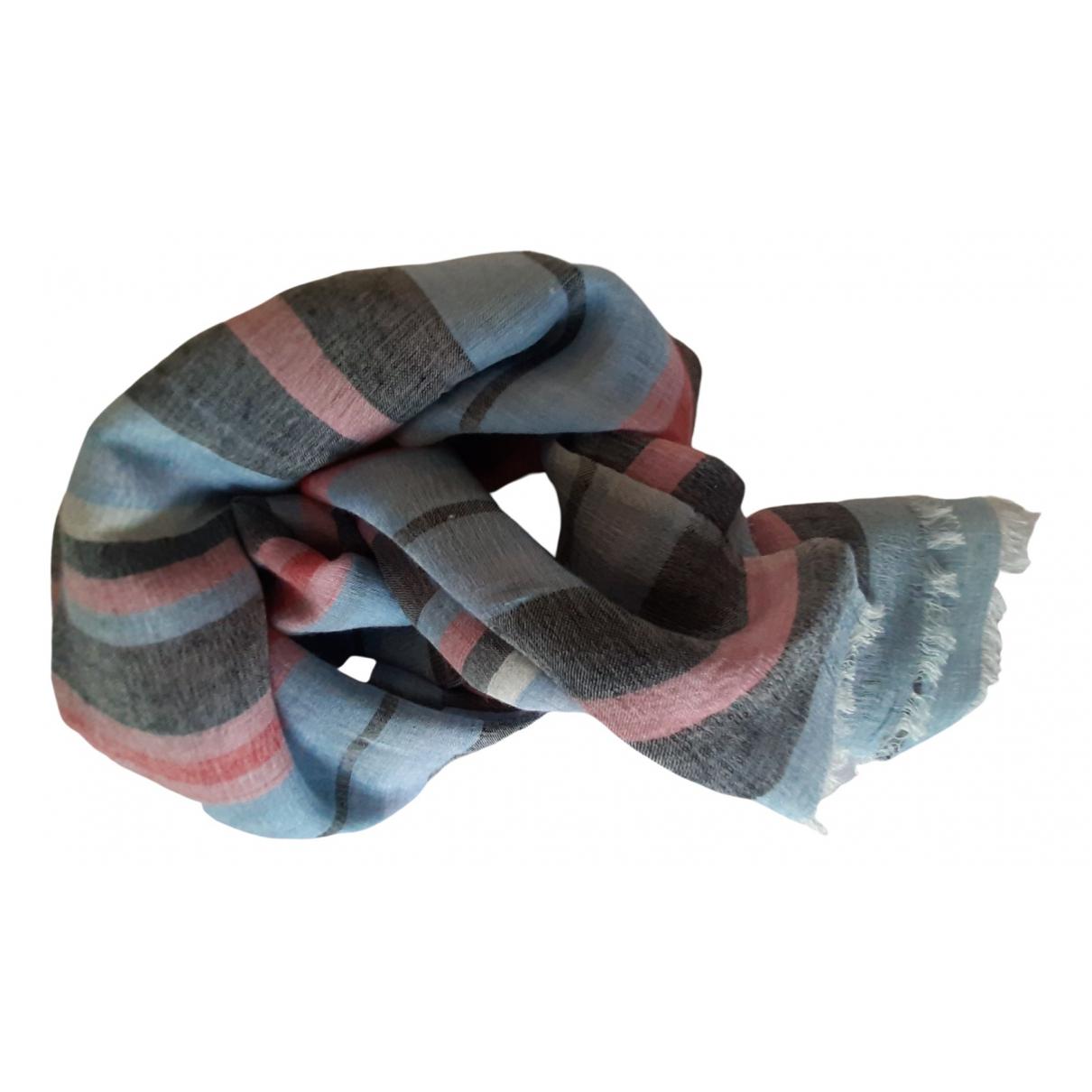 Pablo \N Schal in  Blau Wolle