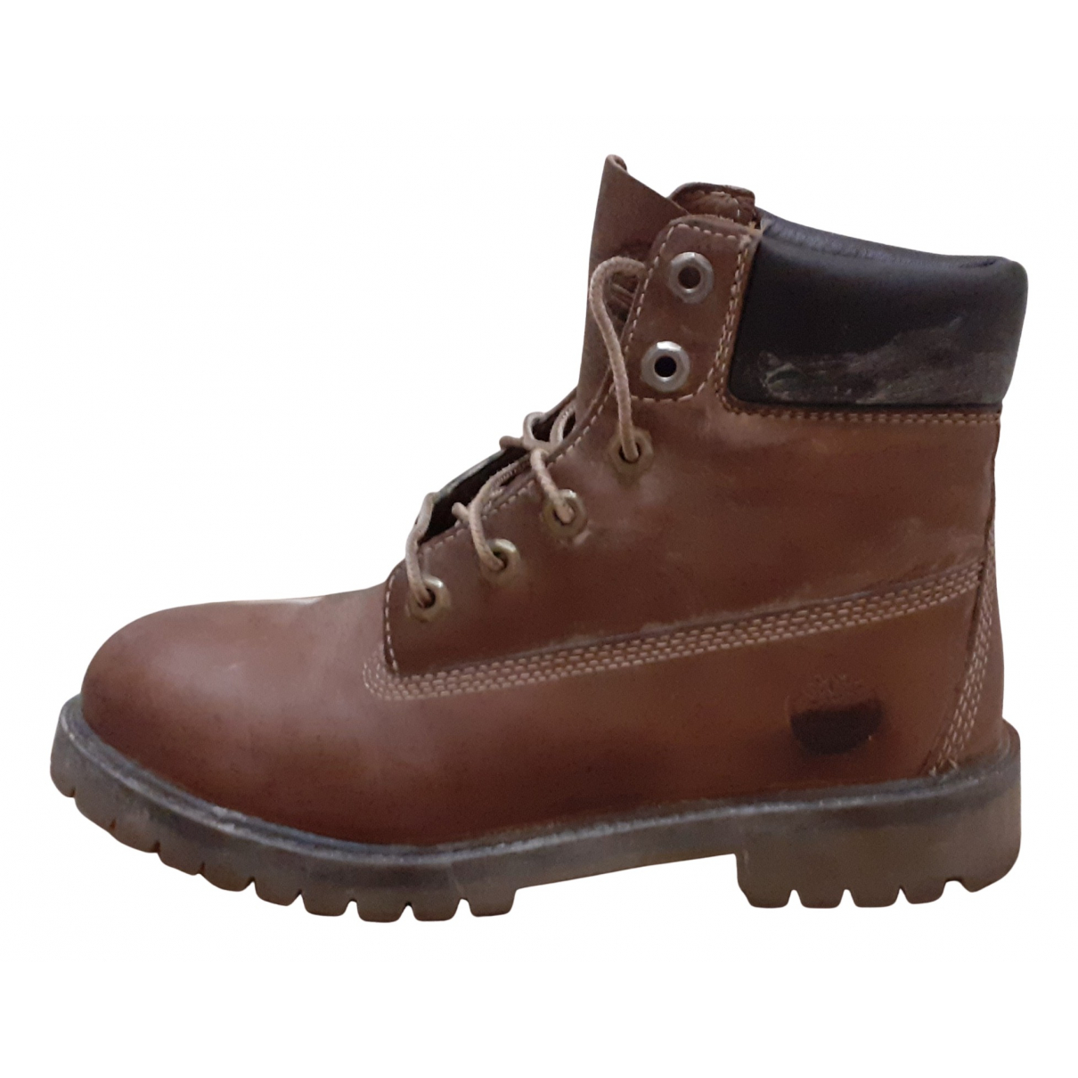 Timberland N Brown Leather Ankle boots for Women 39 EU