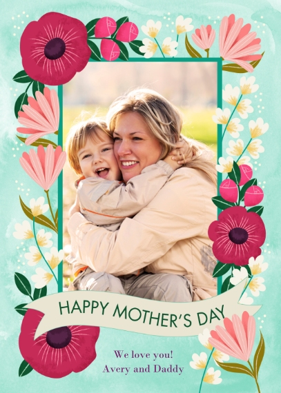 Mother's Day Cards Mail-for-Me Premium 5x7 Folded Card , Card & Stationery -Mothers Day Garden