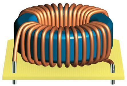 EPCOS 1.3 mH ±30% Ferrite Toroidal Inductor, Max SRF:10kHz, 18A Idc, 5mΩ Rdc, B82726S