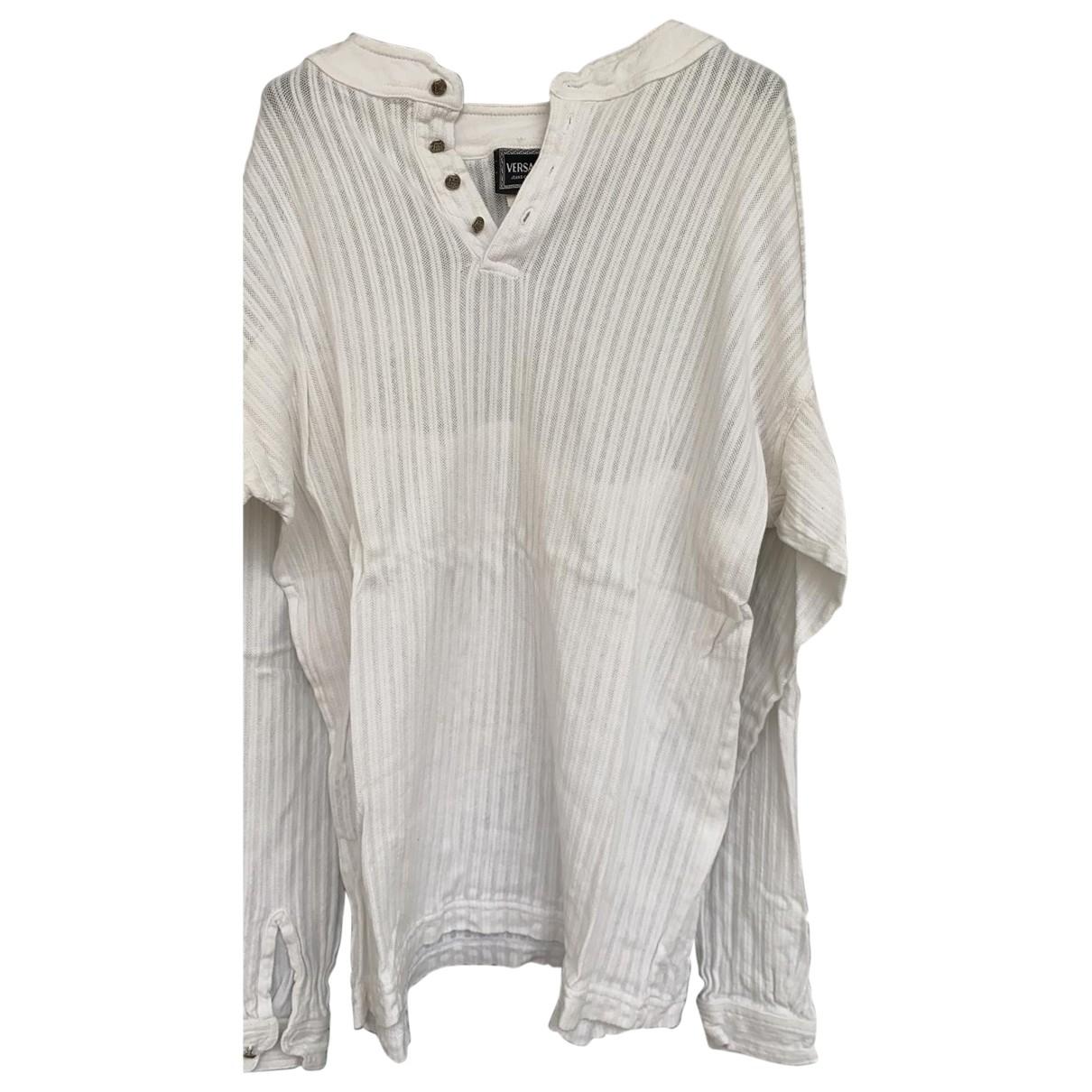 Versace Jean - Polos   pour homme en coton - blanc