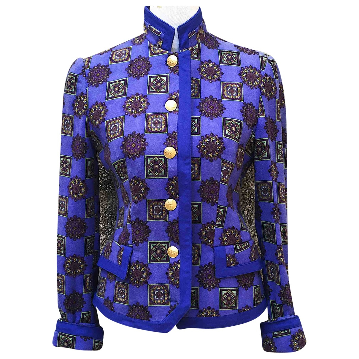 Versace Jeans \N Blue Wool jacket for Women 42 IT