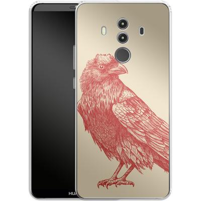 Huawei Mate 10 Pro Silikon Handyhuelle - Red Raven von Terry Fan