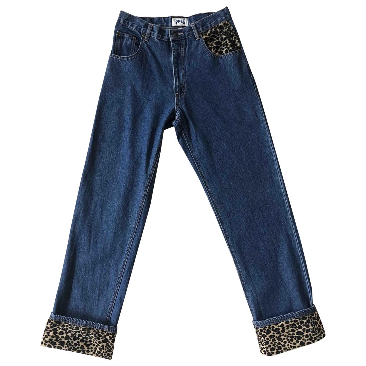Non Signé / Unsigned N Blue Cotton Jeans for Women 38 FR