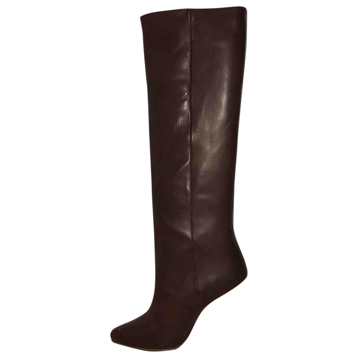 Maison Martin Margiela Pour H&m \N Brown Leather Boots for Women 39 EU