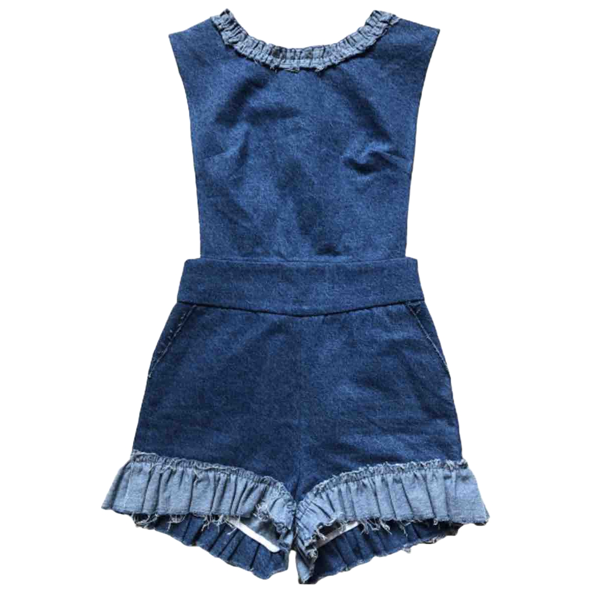Côme \N Blue Denim - Jeans jumpsuit for Women 34 FR