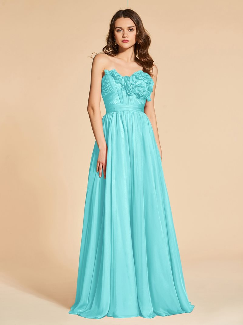 Ericdress A Line Sweetheart Flowers Backless Evening Dress