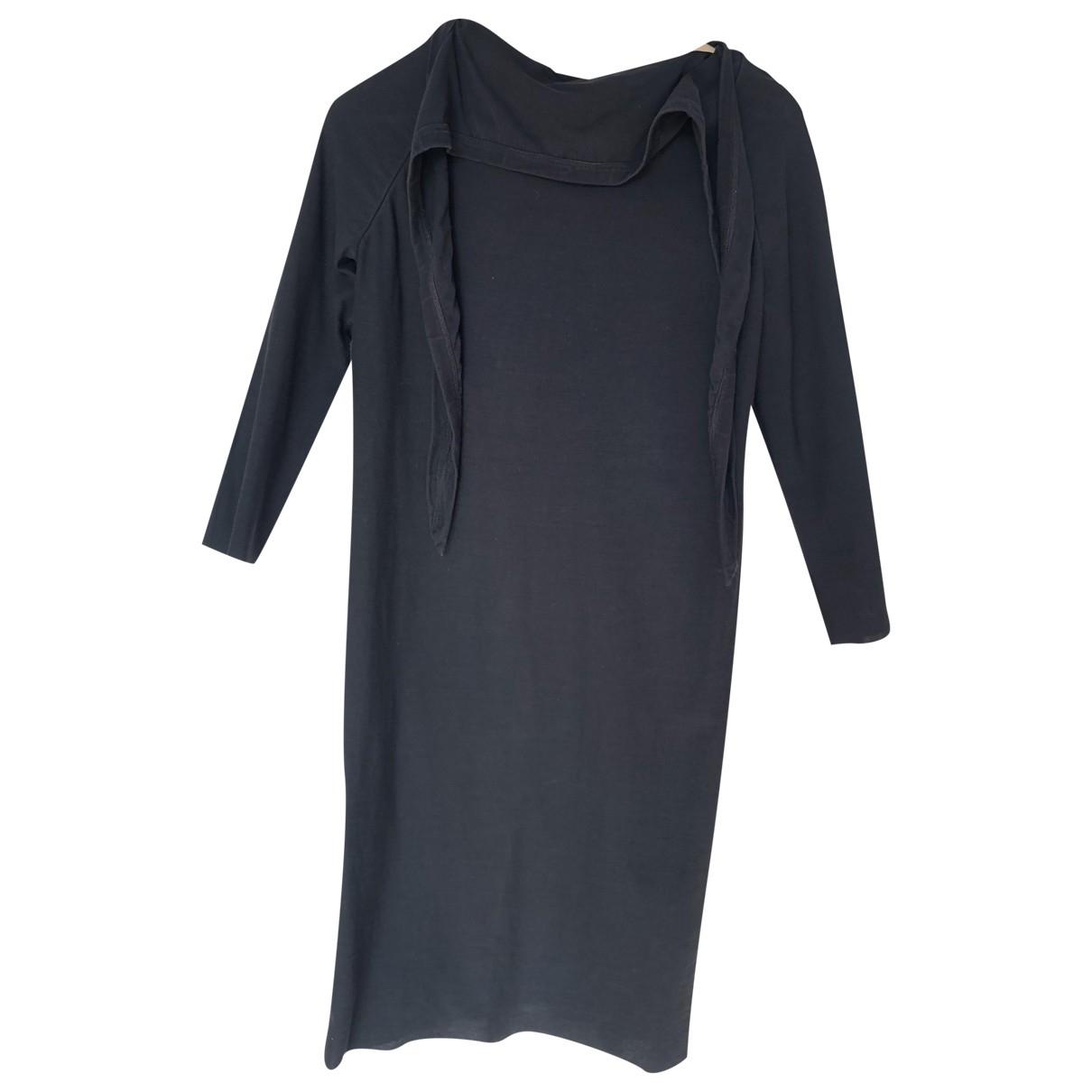 Rick Owens \N Kleid in  Schwarz Baumwolle - Elasthan