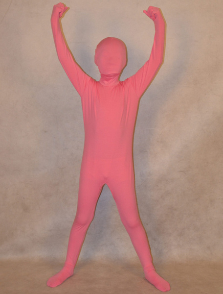Milanoo Halloween Unisex Lycra Spandex Fashion Unicolor Zentai Suits For Kids Halloween