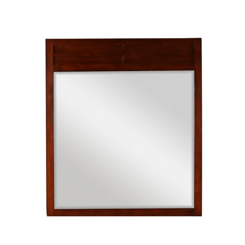 New Classic Kensington Mirror, Burnished Cherry (Rectangular - Wood - Traditional)