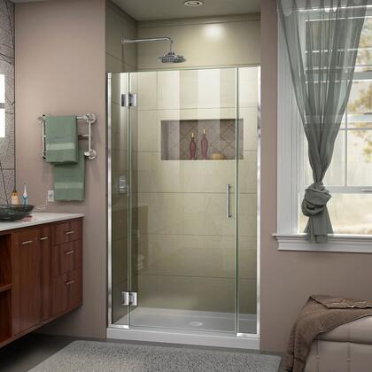 D13006572-01 Unidoor-X 42 1/2-43 W X 72 H Frameless Hinged Shower Door In
