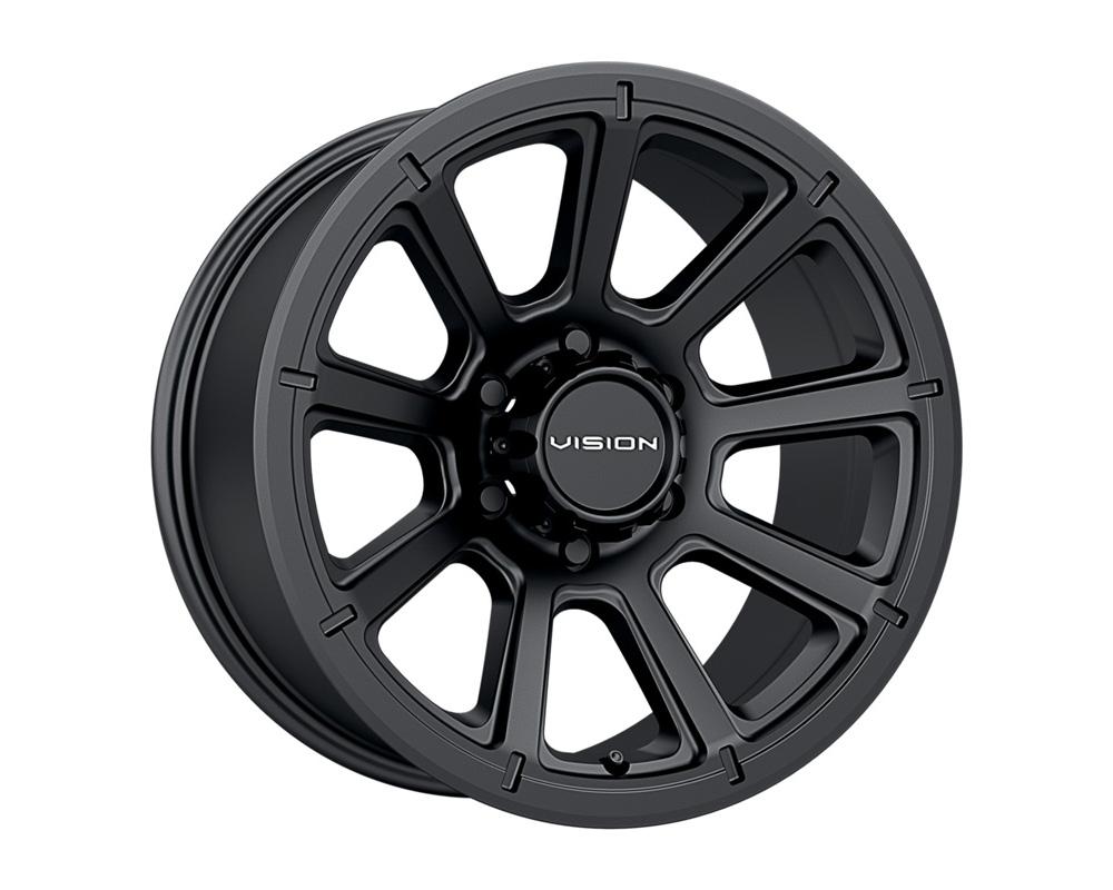 Vision Turbine Matte Black Wheel 18x9 6x139.7 18