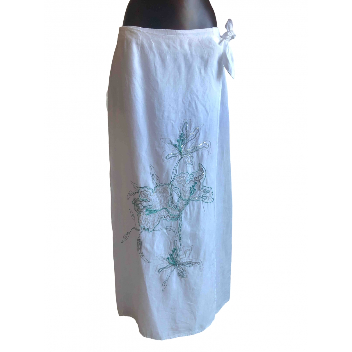 120% Lino \N White Linen dress for Women 46 IT