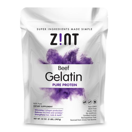 Beef Gelatin Pure Protein 2 lbs by Zint