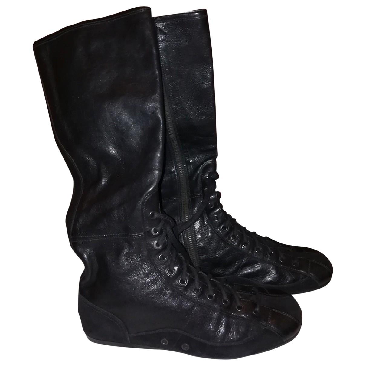 Carshoe \N Stiefel in  Schwarz Leder