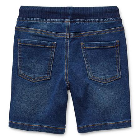 Okie Dokie Toddler Boys Denim Short, 4t , Blue
