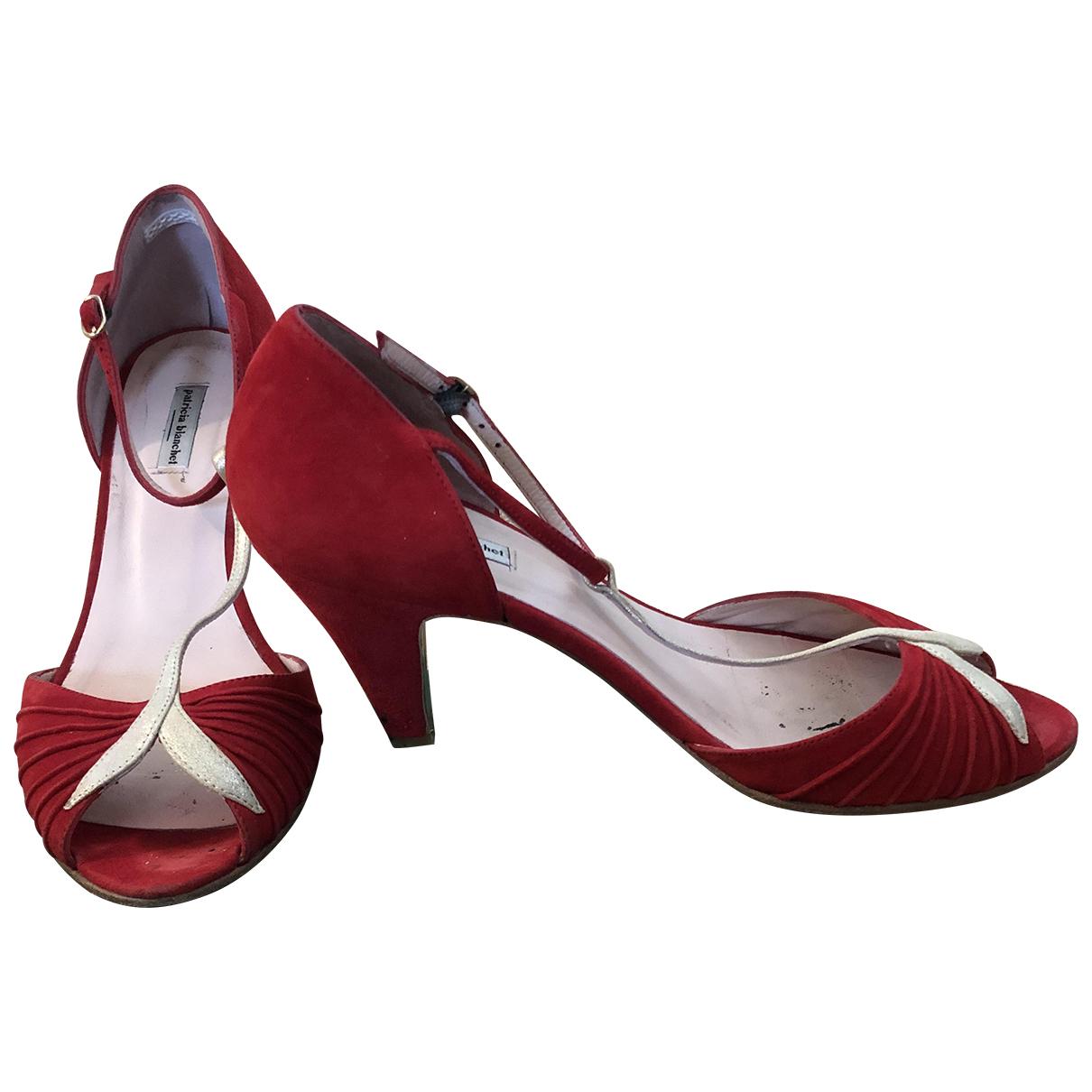 Patricia Blanchet \N Sandalen in  Rot Leder