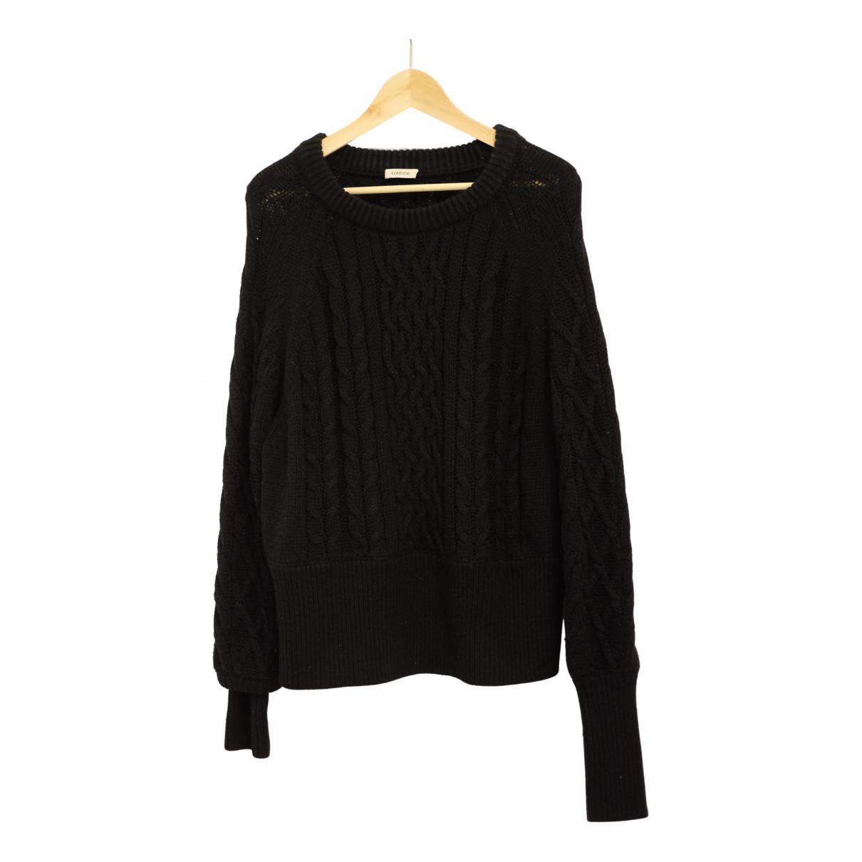 Toteme - Pull   pour femme en laine - noir