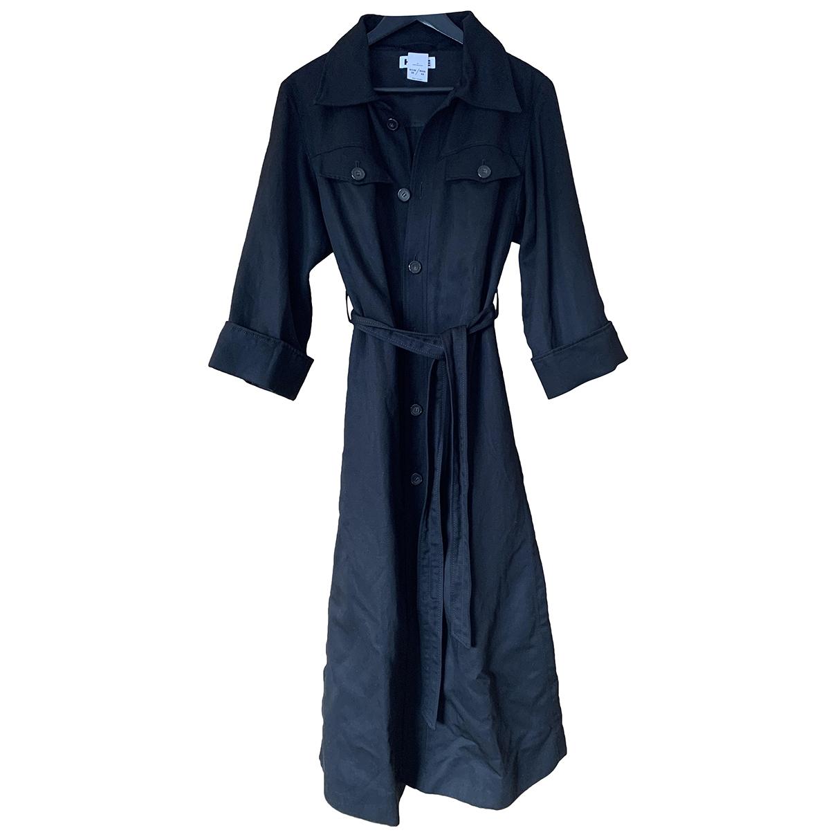 Hope - Manteau   pour femme en lin - noir