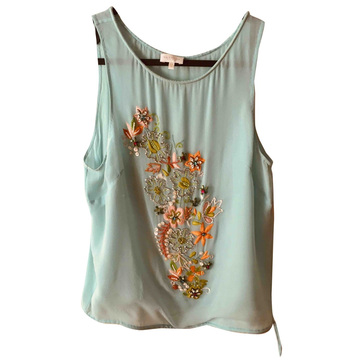 Valentino Garavani \N Green Silk  top for Women 44 IT