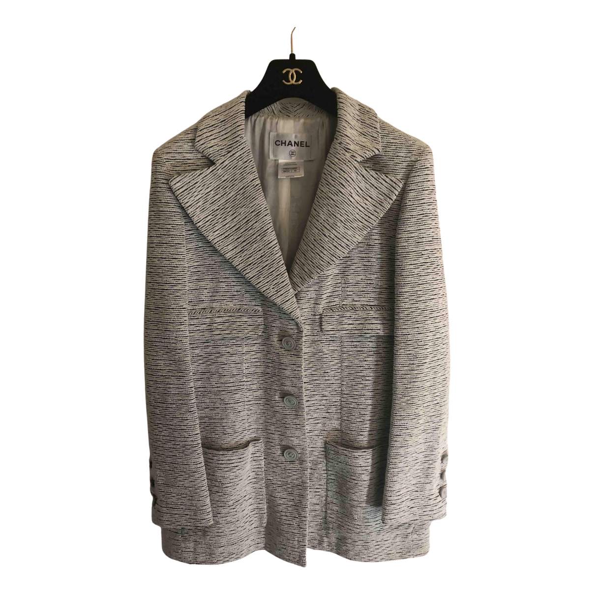 Chanel N White Tweed jacket for Women 42 FR