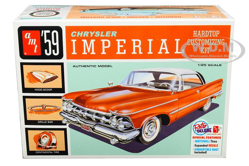 Skill 2 Model Kit 1959 Chrysler Imperial 3 in 1 Kit 1/25 Scale Model by AMT