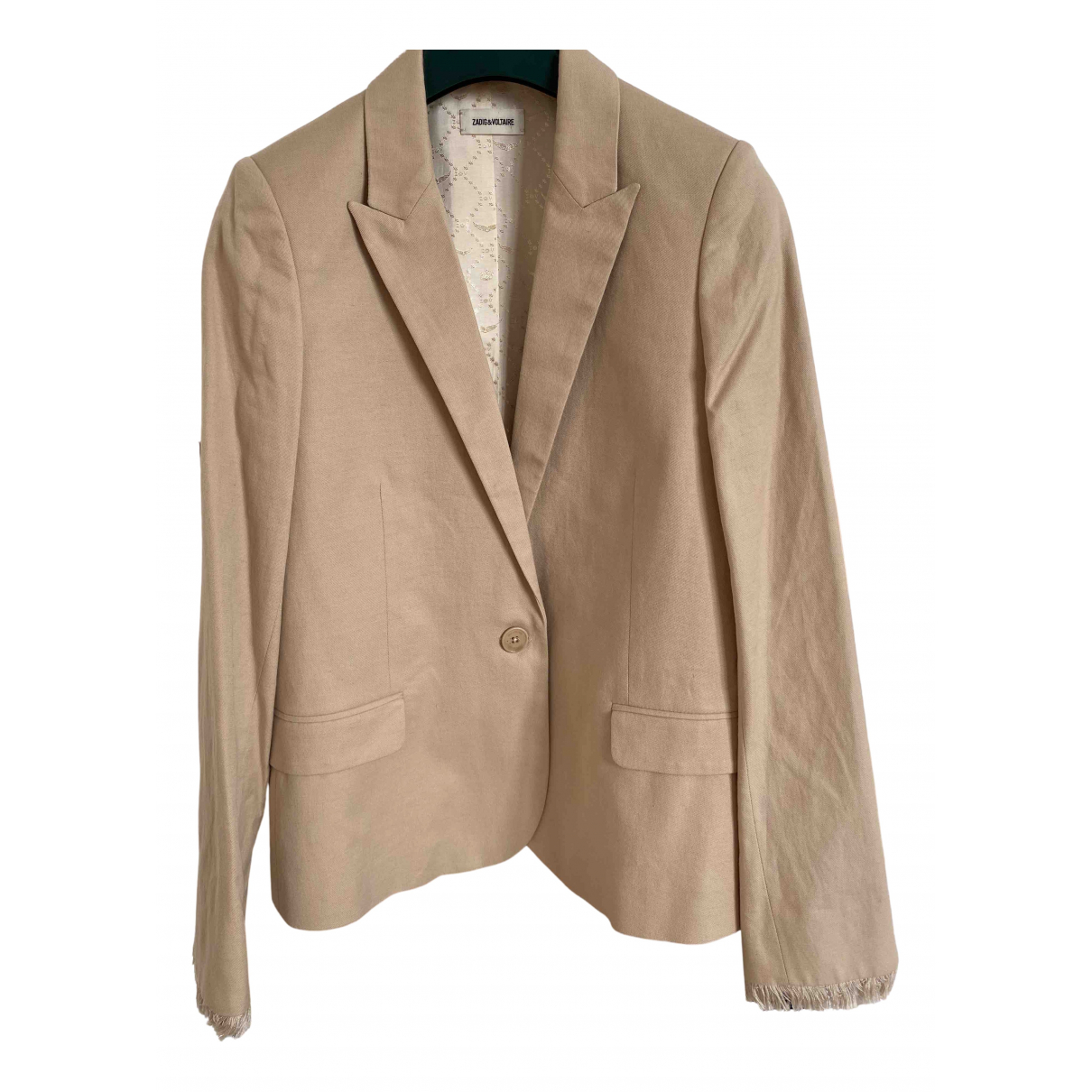 Zadig & Voltaire Spring Summer 2020 Beige Cotton jacket for Women 34 FR