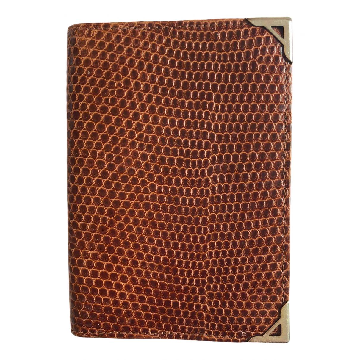 Asprey Of London - Petite maroquinerie   pour femme en cuir - marron