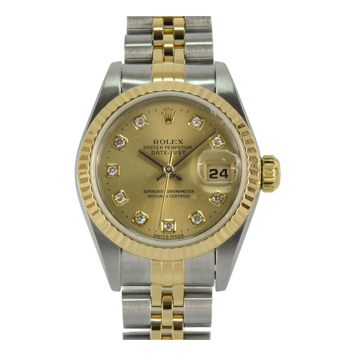 Rolex Lady DateJust 28mm Gold gold and steel watch for Women \N