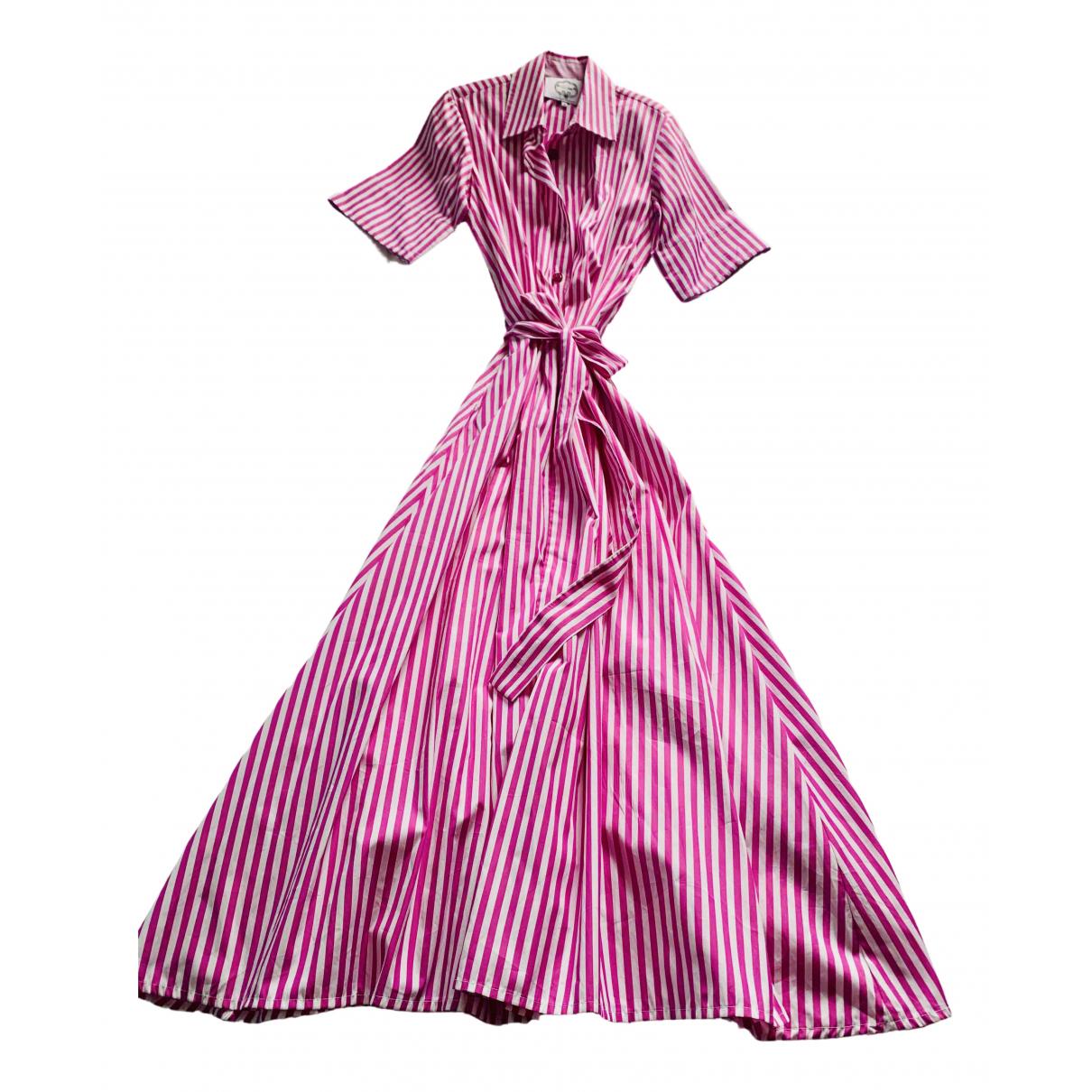 Evi Grintela \N Kleid in  Rosa Baumwolle
