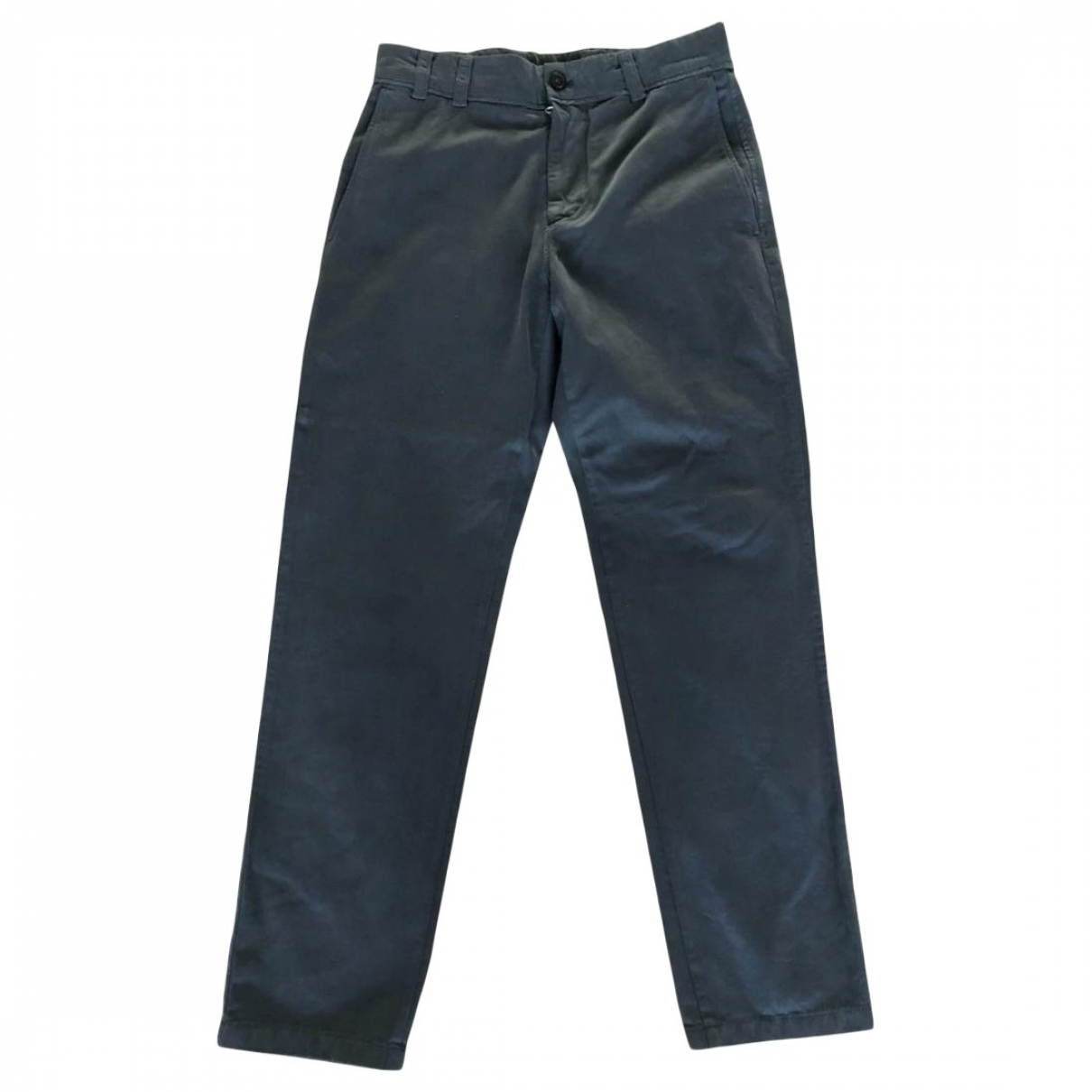Acne Studios \N Anthracite Cotton Trousers for Men 46 IT