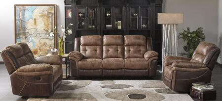Sheffield 1227-3PC 3-Pieces Living Room Set with Sofa  Loveseat and Chair in Brown
