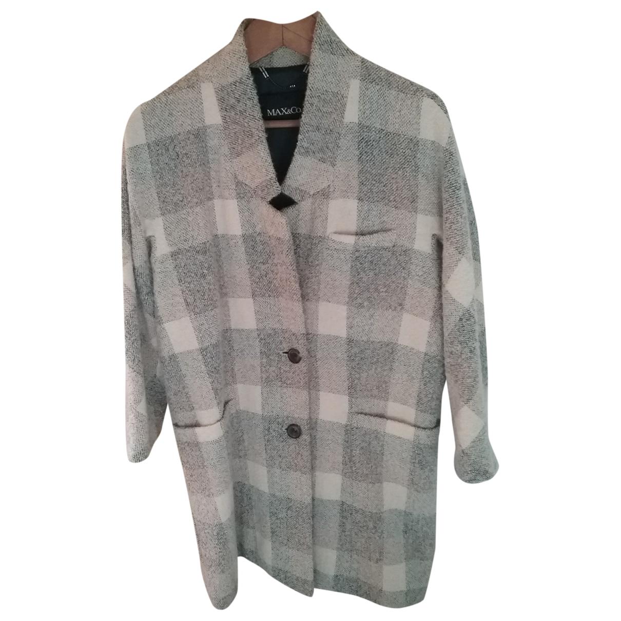 Max & Co \N White Wool coat for Women 40 FR