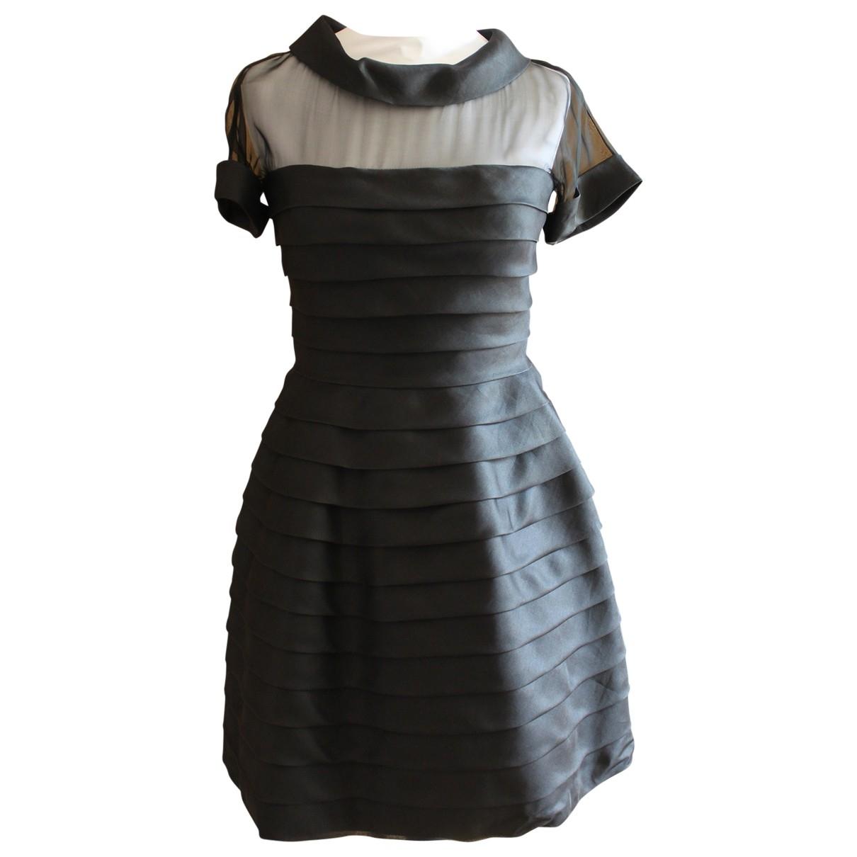 Valentino Garavani \N Kleid in  Schwarz Seide