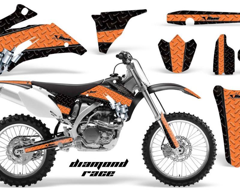 AMR Racing Dirt Bike Graphics Kit Decal Wrap For Yamaha YZ250F YZ450F 2006-2009áDIAMOND RACE ORANGE BLACK