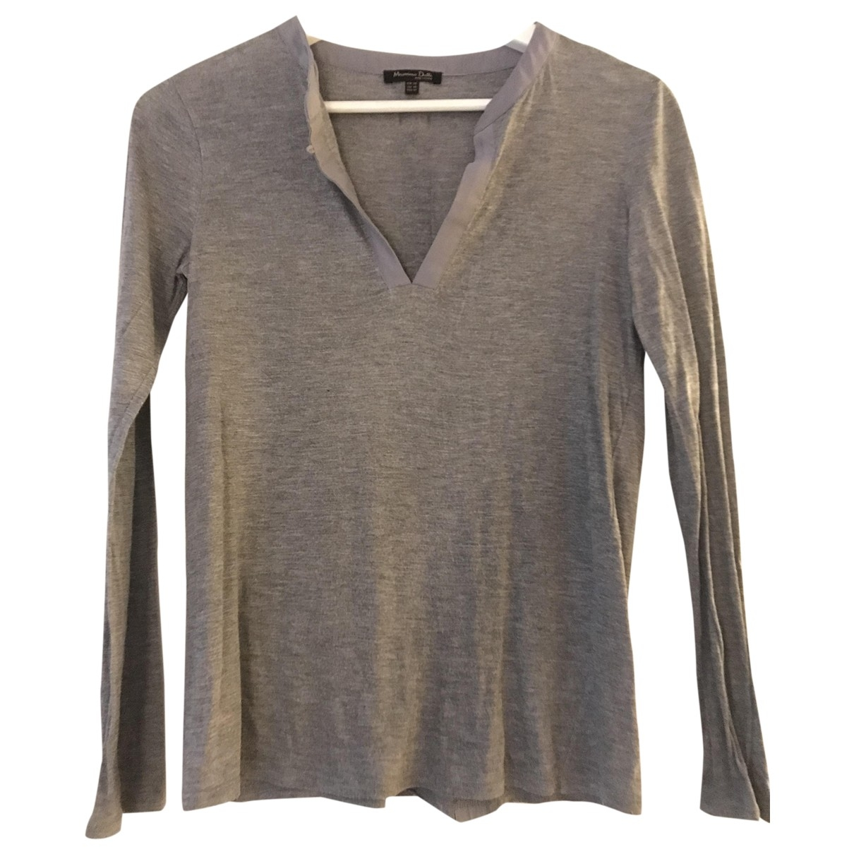Massimo Dutti \N Grey Cotton  top for Women XS International