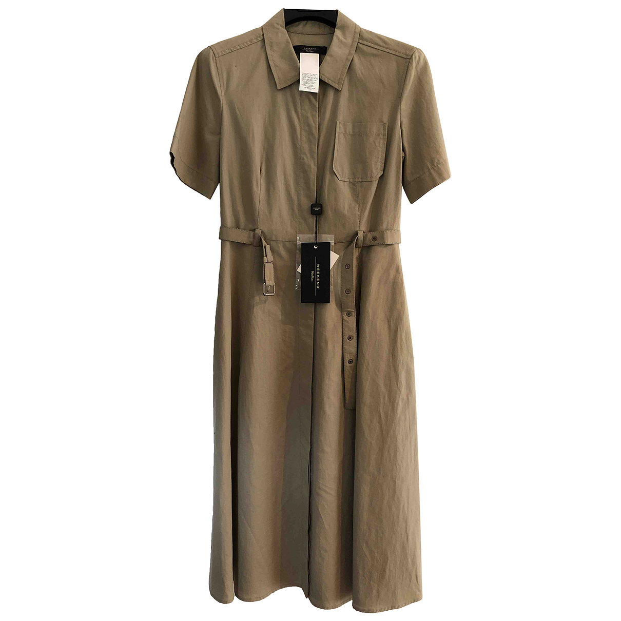 Max Mara Weekend \N Kleid in  Beige Baumwolle