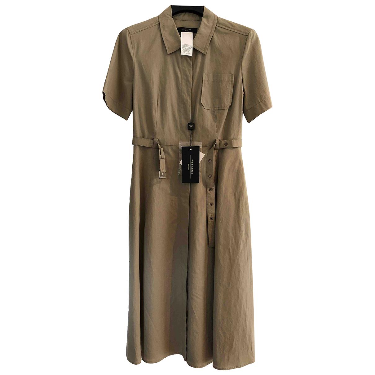 Max Mara Weekend \N Kleid in  Beige Baumwolle