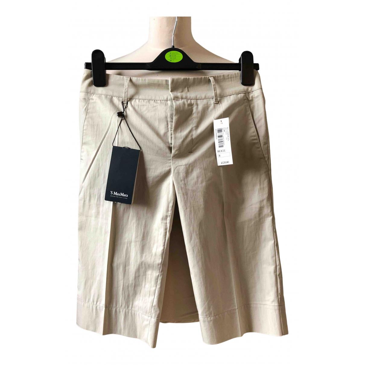 Max Mara s \N Shorts in  Beige Baumwolle - Elasthan